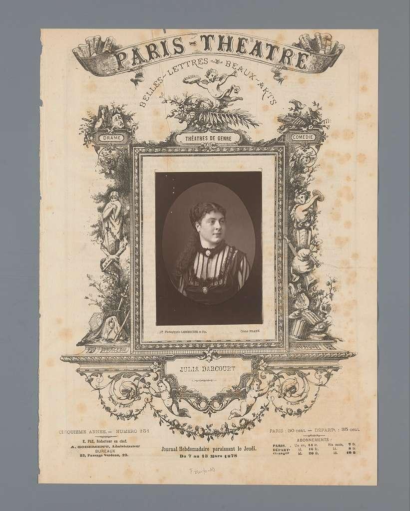 Portret van Julia Darcourt
