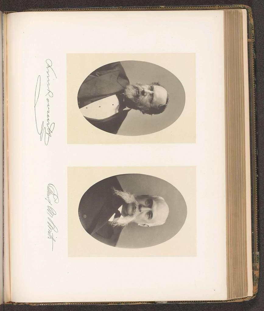 Portretten van twee leden van de visserijcommissie van de staat New York