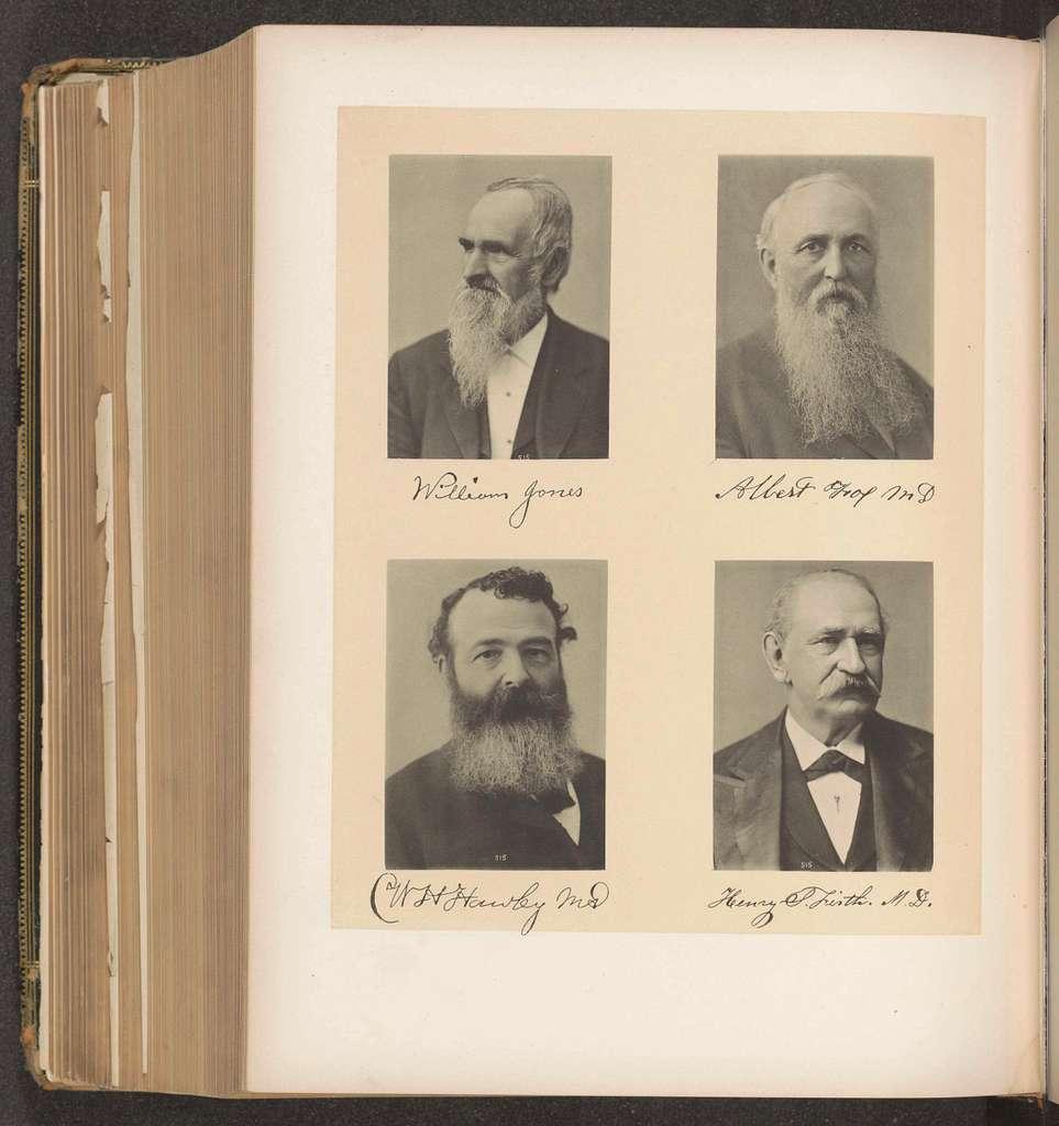 Portretten van vier leden van de medische sociëteit van de staat New York