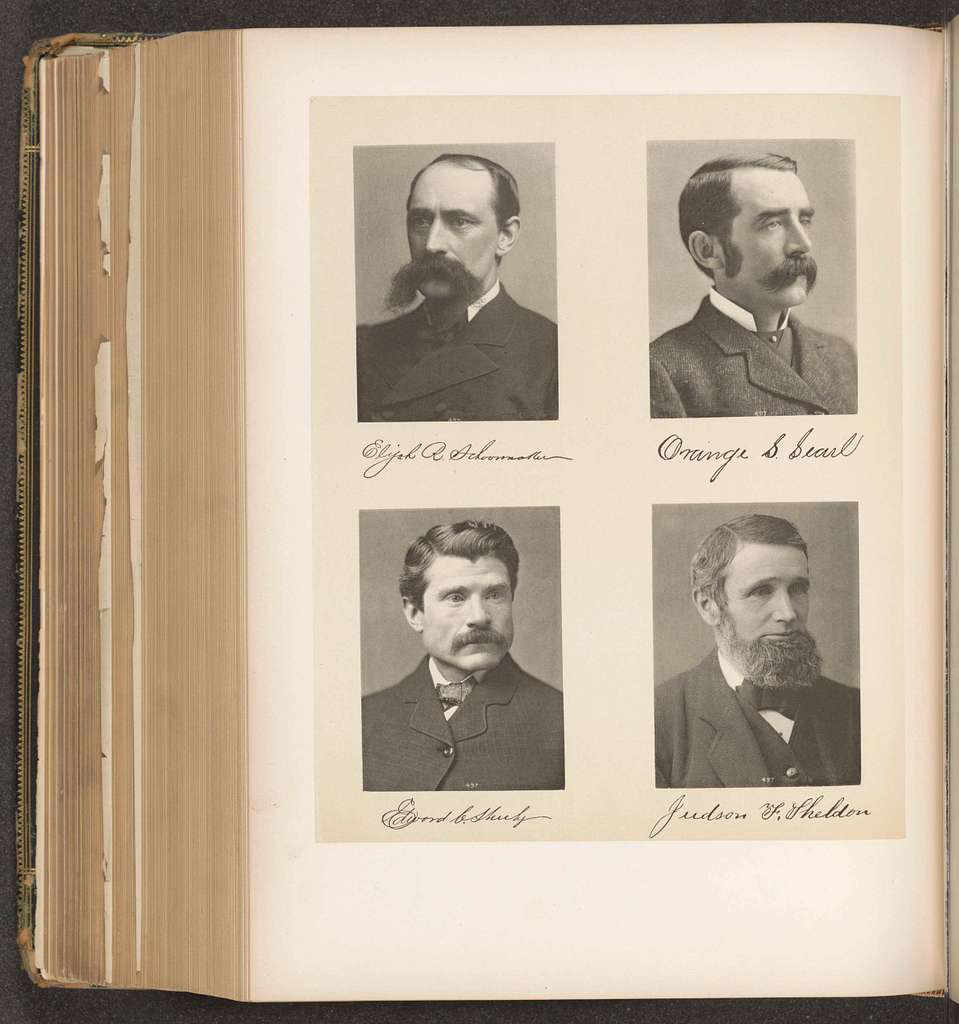 Portretten van vier leden van het Lagerhuis van de staat New York