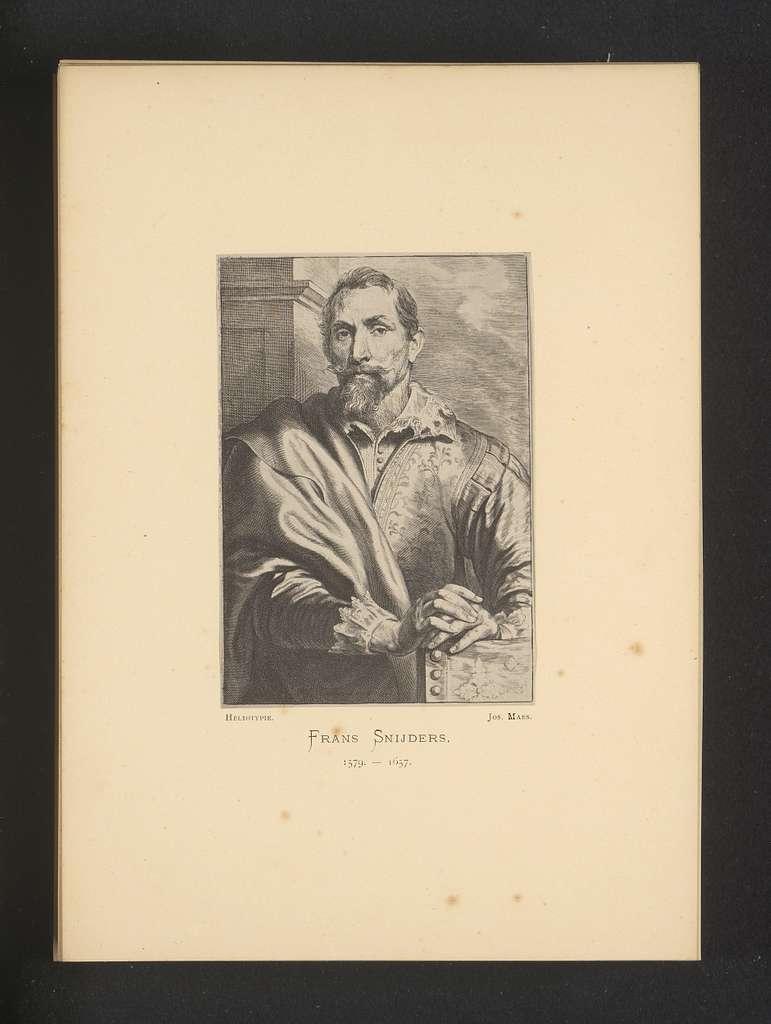 Reproductie van een gravure van een portret van Marten Pepijn door Anthony van Dyck