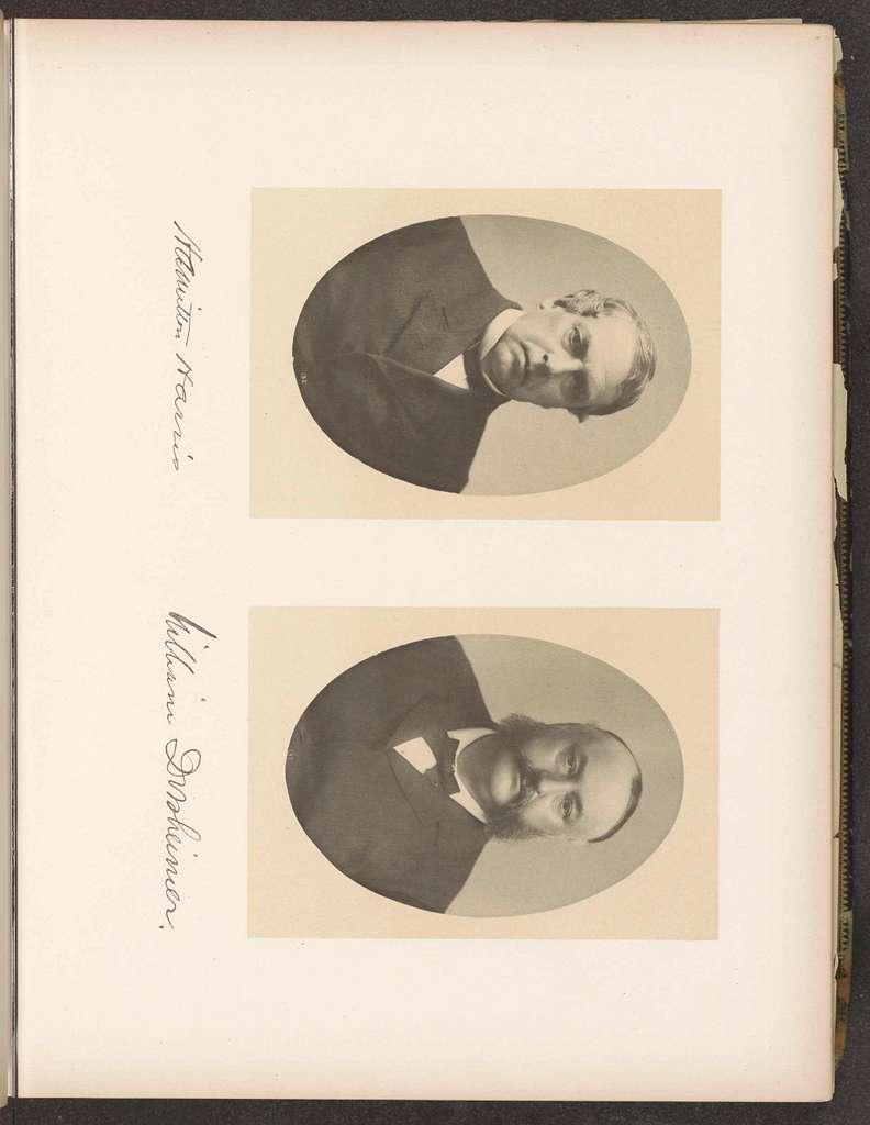 Twee portretten van de voorzitters van de Capitoolcommissie