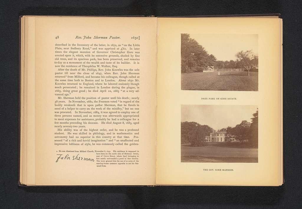 Gezicht op het huis van gouverneur Christopher Gore in Waltham, Massachusetts