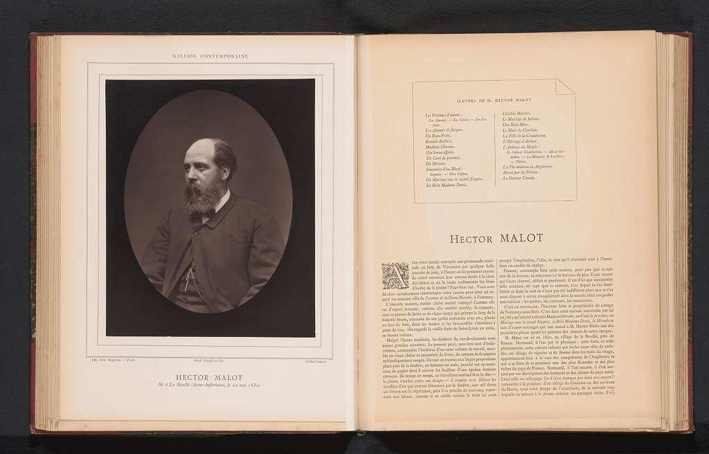 Portret van Hector Malot