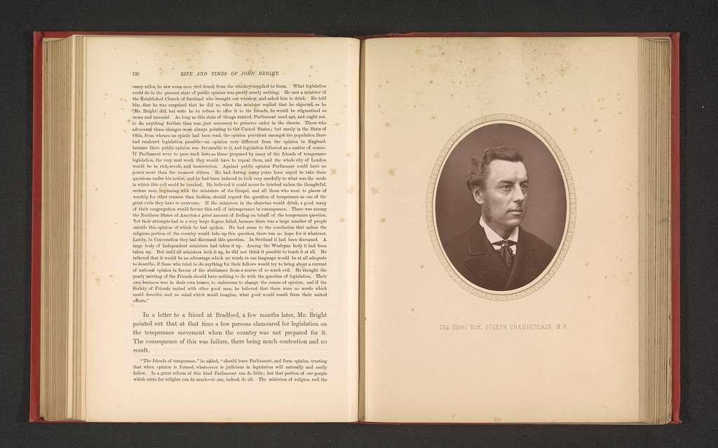 Portret van Joseph Chamberlain
