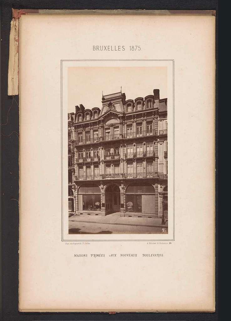 Exterieur van het gebouw op Boulevard du Nord 108 te Brussel