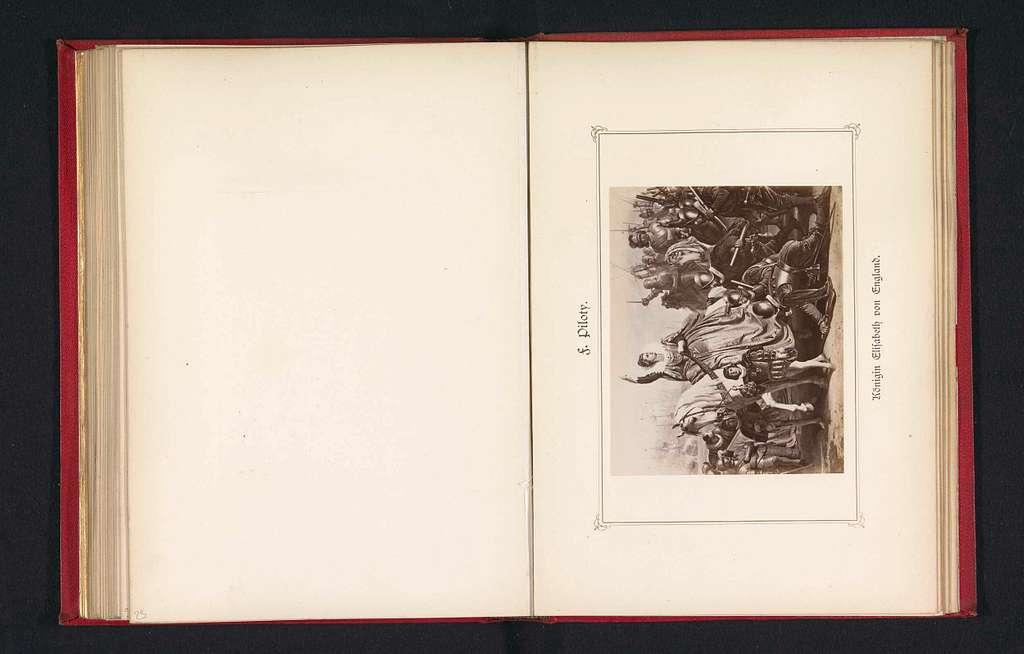 Fotoreproductie van een schilderij, voorstellende de stichting van de Katholieke Liga