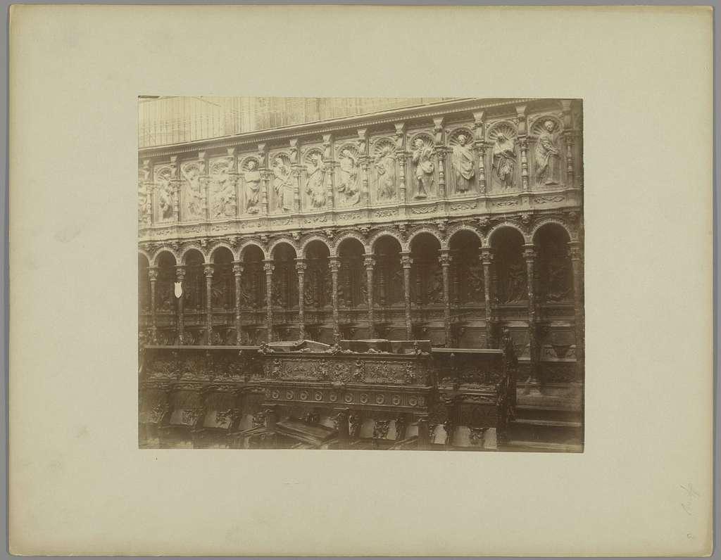 Koorbanken van de Kathedraal te Toledo
