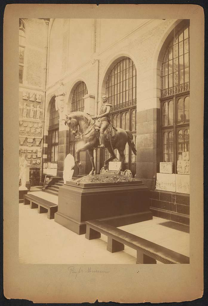 Model van het ruiterstandbeeld van koning Willem II in het Rijksmuseum te Amsterdam