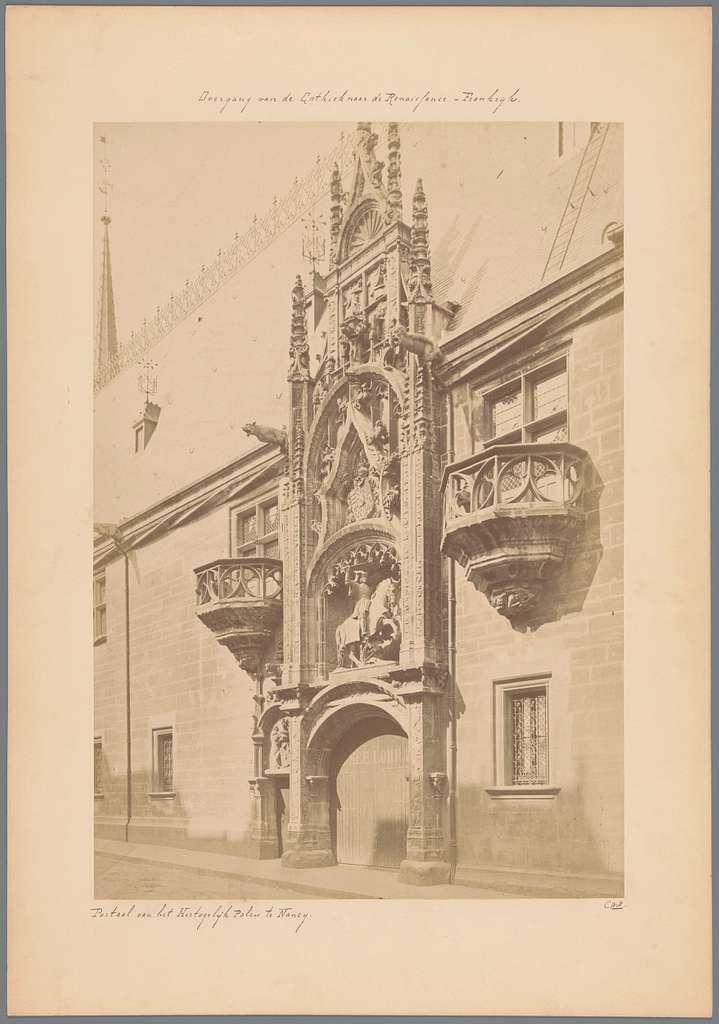 Portaal van het Musée Lorrain te Nancy