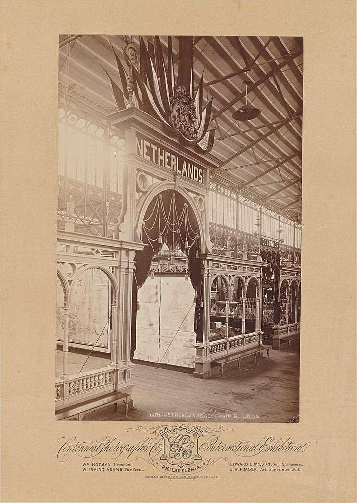 Nederlands paviljoen op de International Exhibition te Philadelphia, 1876
