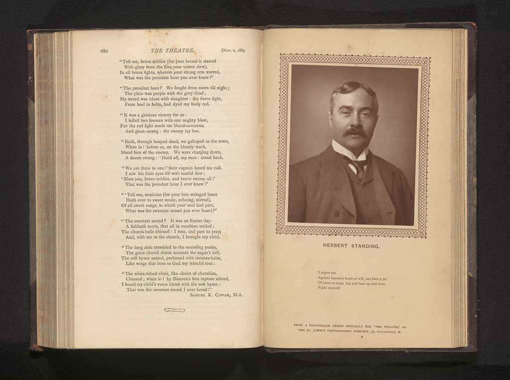 Portret van Herbert Standing
