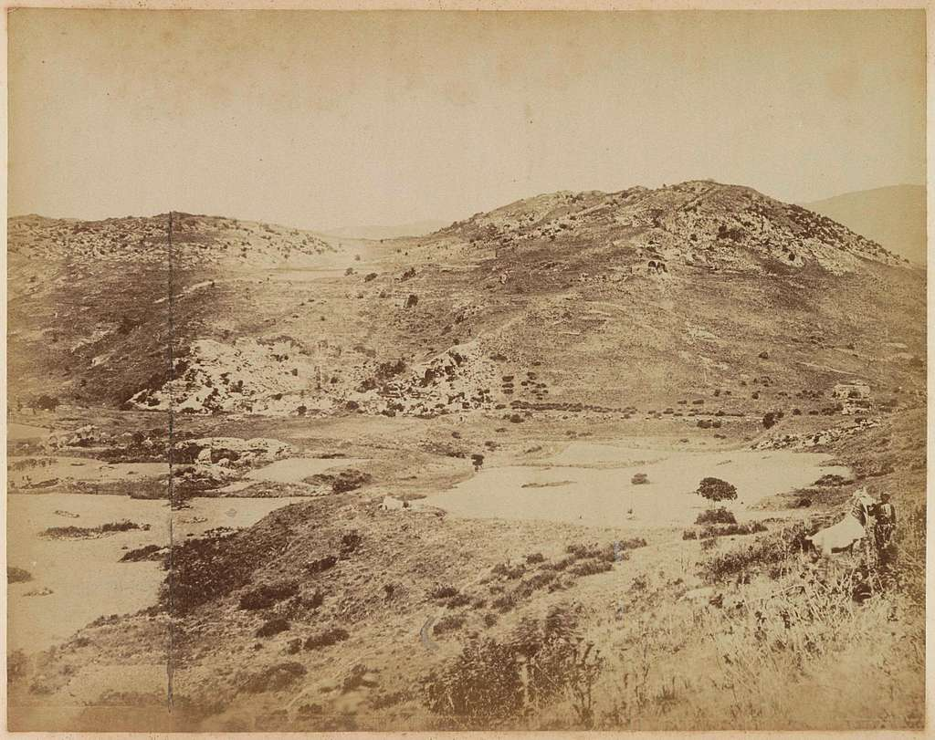 Berglandschap bij Efeze, met gezicht op het theater