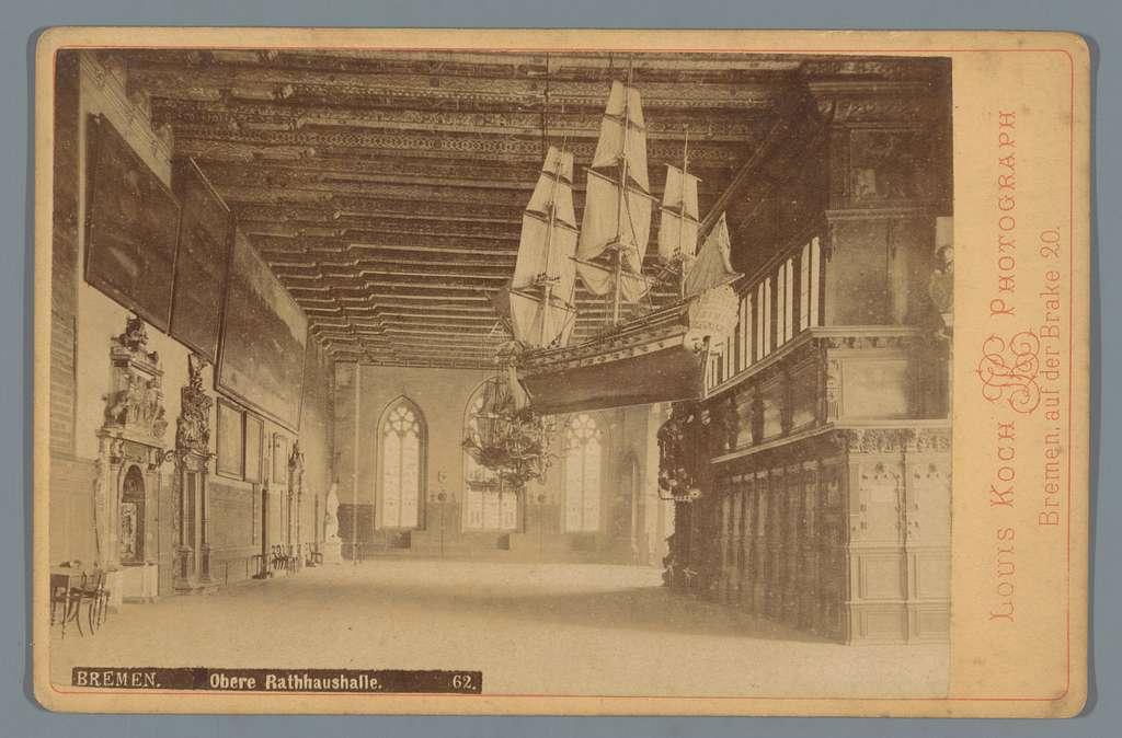 Bovenzaal van het stadhuis in Bremen