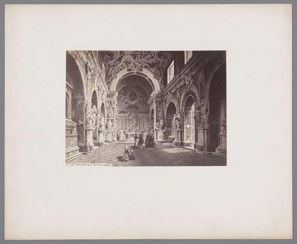 interno di S. Severo, Napoli repro naar tekening