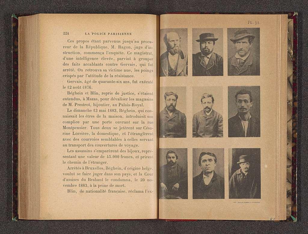 Negen portretten van onbekende mannen, vermoedelijk criminelen