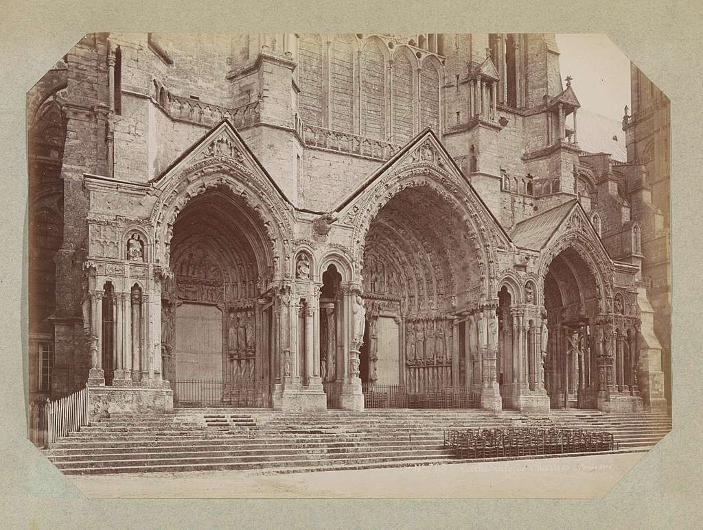Noordportalen van de kathedraal van Chartres