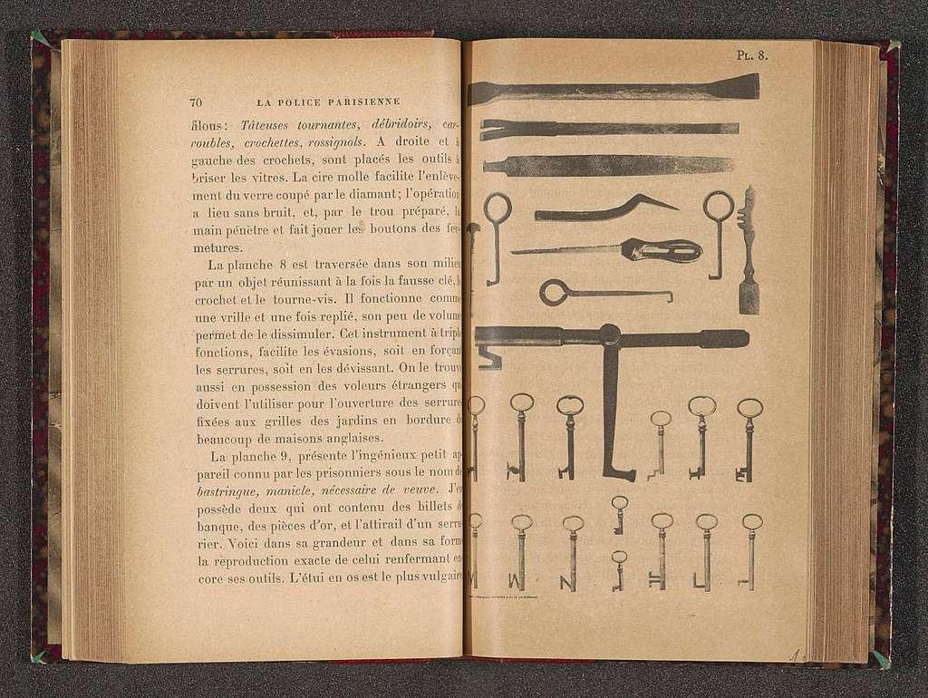 Sleutels, schroevendraaiers, haken en vijlen