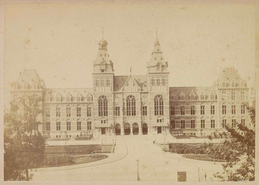 Gezicht op de noordgevel van het Rijksmuseum