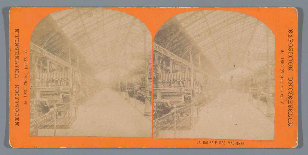 De Machinehal op de Wereldtentoonstelling van 1889