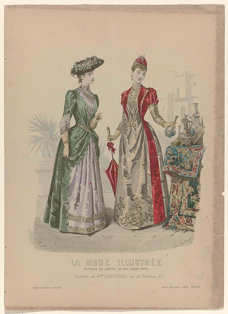 La Mode Illustrée, 1889, No. 37 : Toilettes de Mme. Gradoz (...)