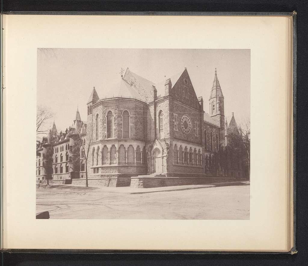Exterieur van Battell Chapel te New Haven