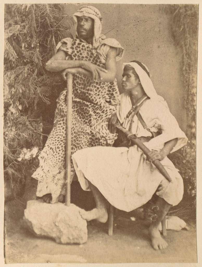 Portret van twee Arabische mannen, Egypte