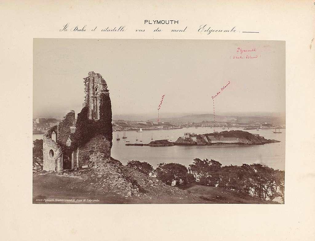 Gezicht op Plymouth vanaf Mount Edgcumbe