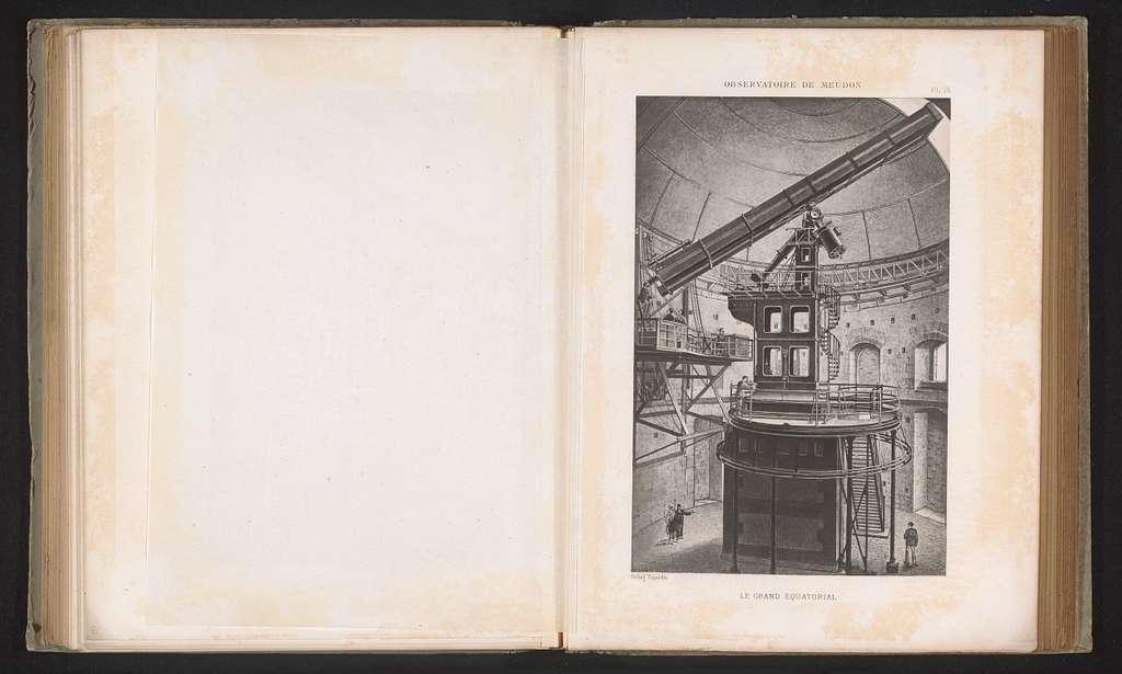 Reproductie van een ontwerp van het interieur van het observatorium van Parijs