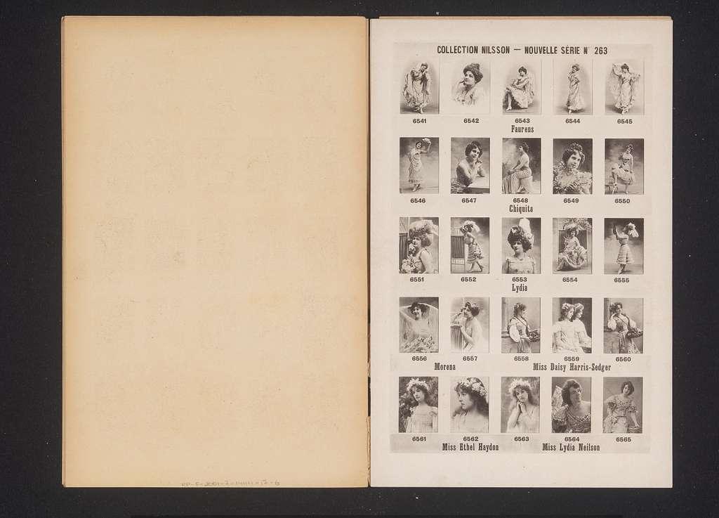 25 portretten van Faurens, Chiquita, Lydia, Morena, Daisy Harris-Sedger, Ethel Haydon en Lydia Neilson