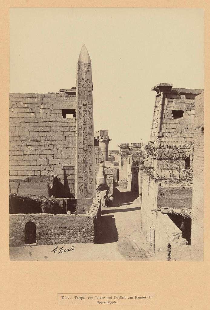 Een beeld van Ramses II.