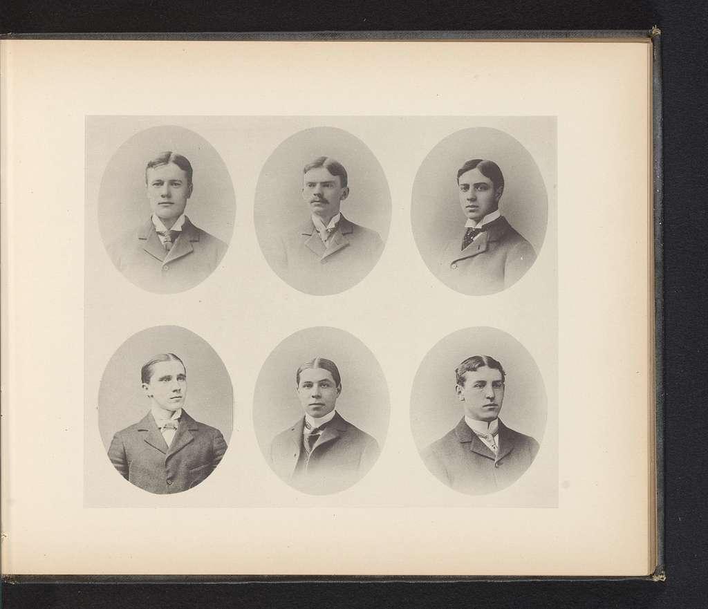 Zes portretten van afgestudeerde studenten van Yale University