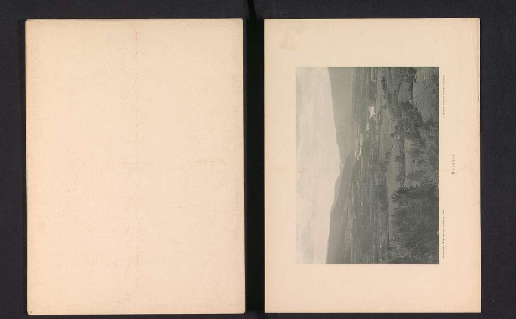 Gezicht op Meråker met bergen en een rivier