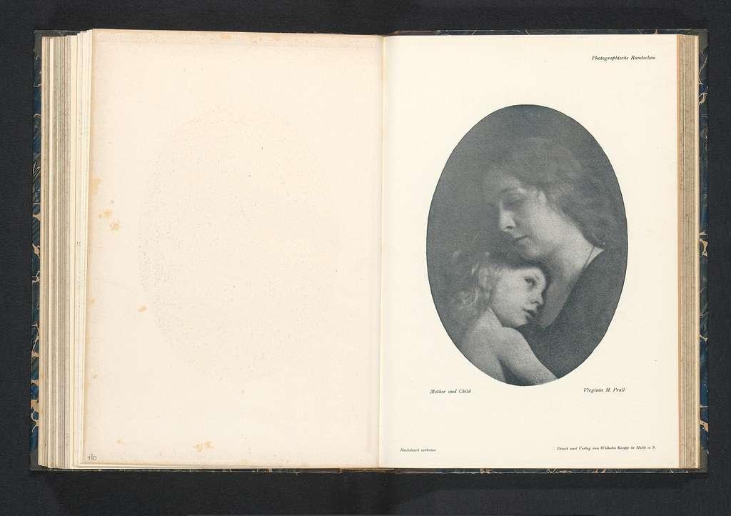 Portret van een onbekende vrouw en een kind