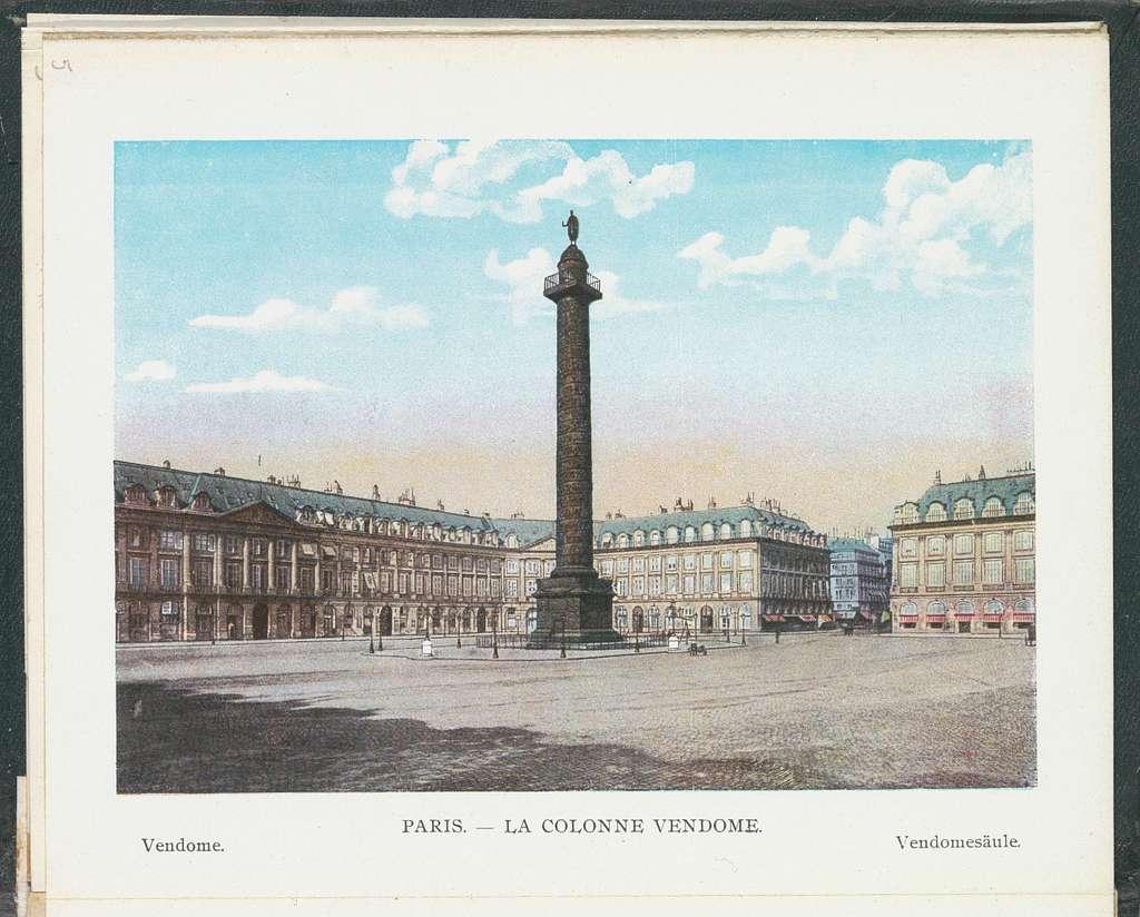 Gezicht op de Colonne Vendôme op de Place Vendôme in Parijs