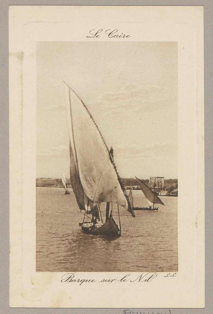 Zeilboot op de Nijl bij Caïro