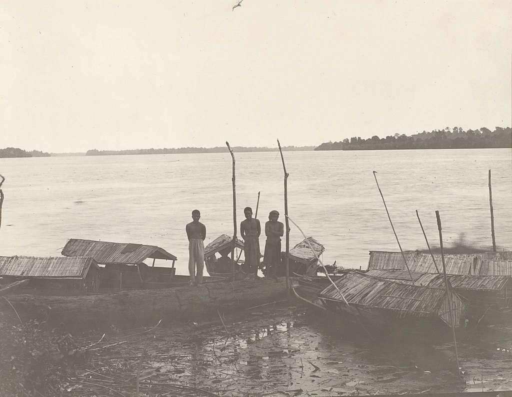 Mannen met boten