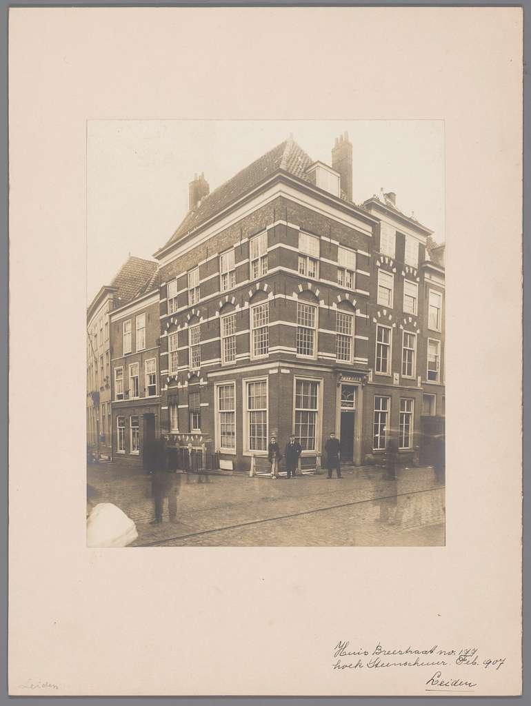 Huis op Breestraat 177 te Leiden