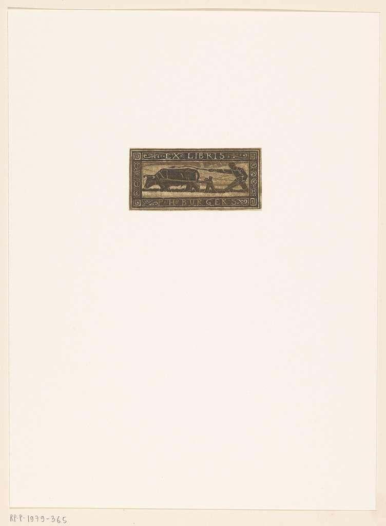 Ex libris van P.H. Burgers