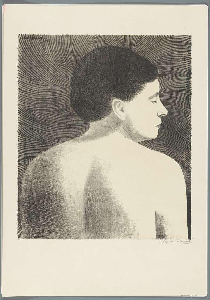 Op de rug gezien vrouwelijk naakt